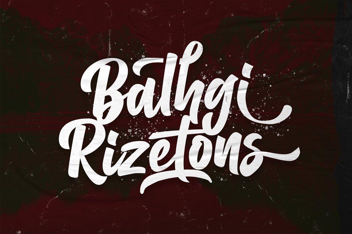 Balhgi-Rizetons-Bold-Script-Font