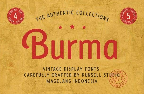 Burma Sans Serif Display Typeface