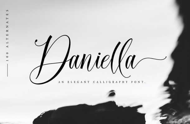 Daniella Calligraphy Script Font