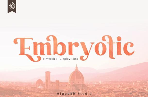Embryotic Serif Display Font