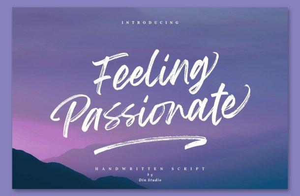 Feeling Passionate Brush Script Font