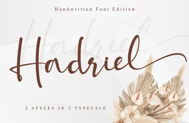 Hadriel Handwritten Script Font