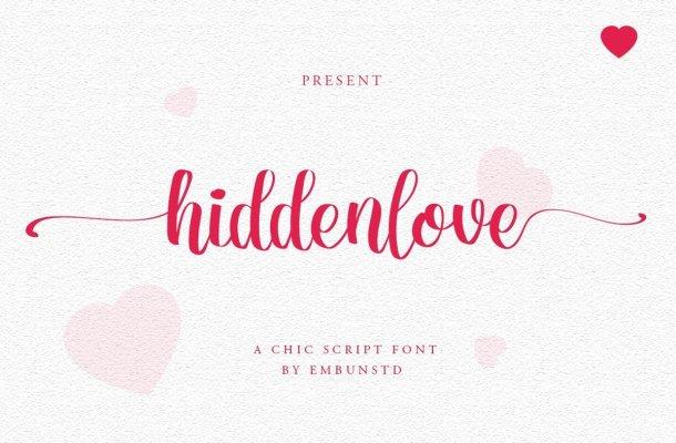Hiddenlove Calligraphy Script Font