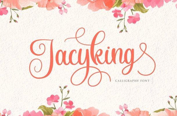 Jacyking Lovely Calligraphy Script Font