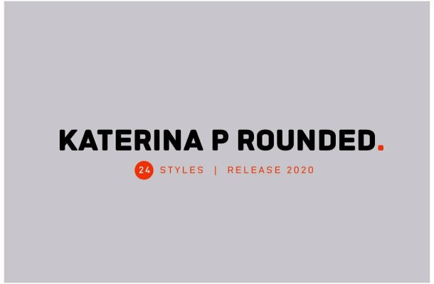 Katerina P Rounded Sans Serif Typeface