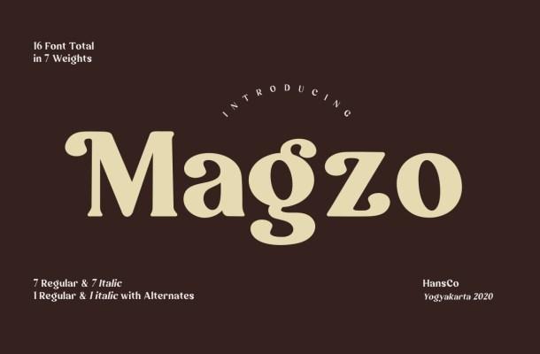 Magzo Roman Serif Font