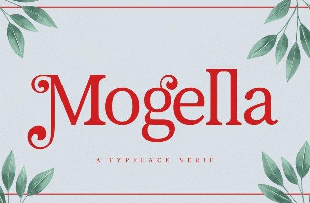 Mogella Bold Serif Typeface
