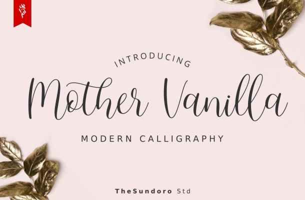 Mother Vanilla Calligraphy Script Font