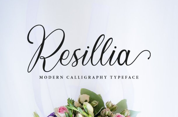 Resillia Calligraphy Script Font