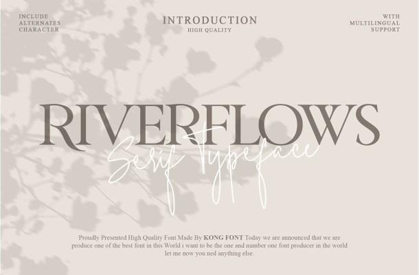 Riverflows Modern Serif Font