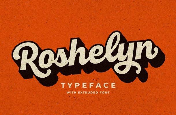 Roshelyn Bold Script Font