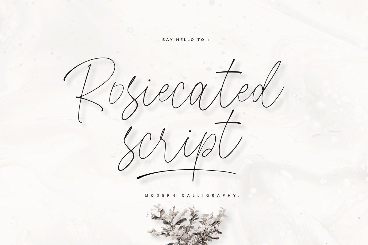 Rosiecated-Handwritten-Script-Font