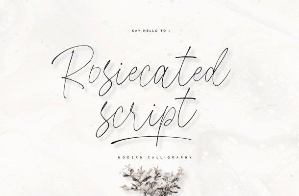 Rosiecated Handwritten Script Font