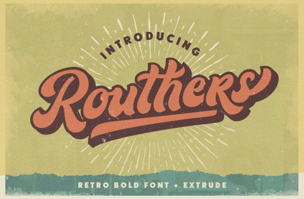 Routhers-Retro-Bold-Script-Font