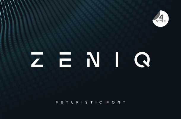 Zeniq Modern Sans Display Font