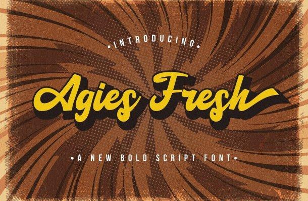 Agies-Fresh-Bold-Script-Font