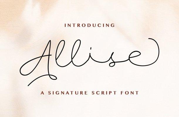 Allise Signature Script Font