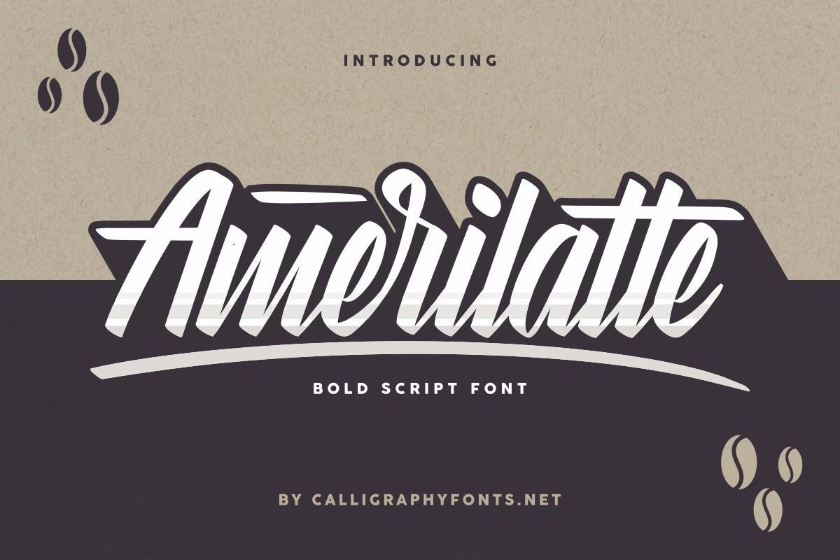 Amerilatte-Bold-Script-Font