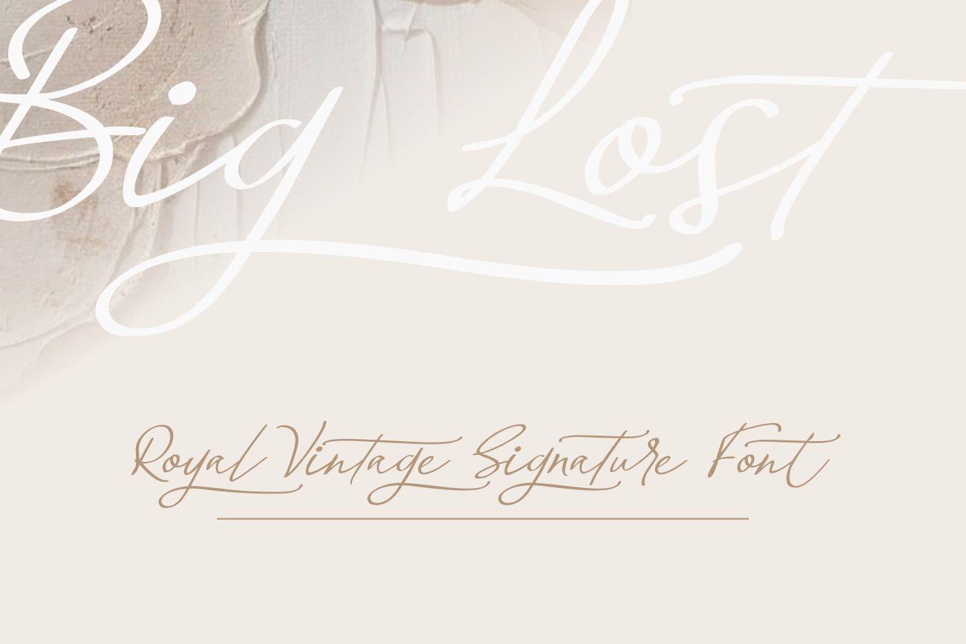 Big-Lost-Royal-Vintage-Signature-Font-3