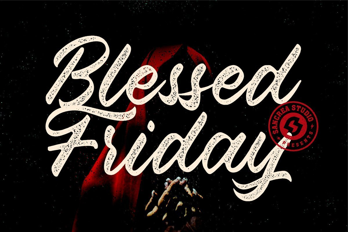 Blessed-Friday-Script-Font