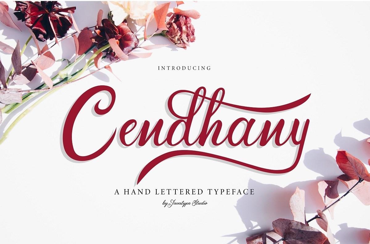 Cendhany-Calligraphy-Typeface