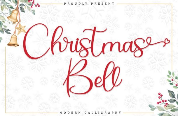 Christmas Bell Calligraphy Script Font