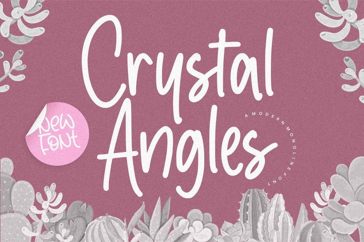 Crystal-Angles-Monoline-Script-Font