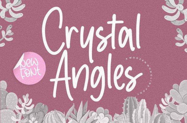 Crystal Angles Monoline Script Font