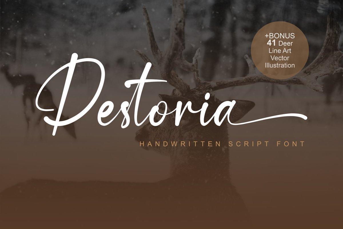 Destoria-Handwritten-Script-Font