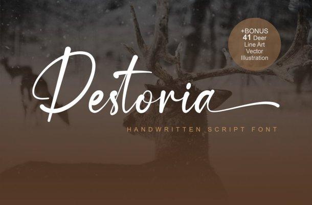 Destoria Handwritten Script Font