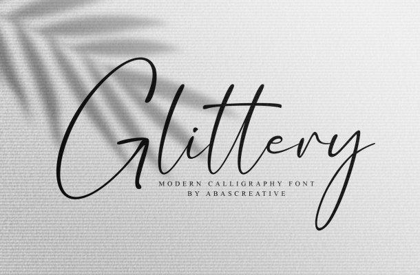 Glittery Modern Calligraphy Script Font