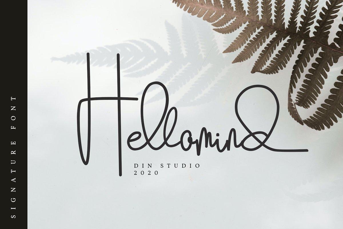 Hellomind-Signature-Script-Font
