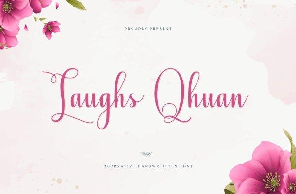 Laughs Qhuan Calligraphy Script Font