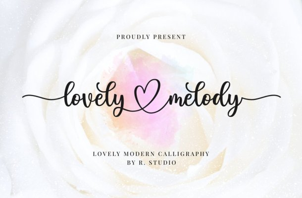 Lovely Melody Calligraphy Script Font