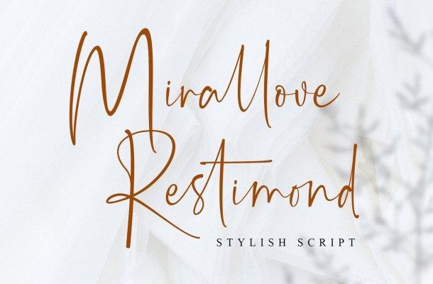 Mirallove Restimond Handwritten Script Font