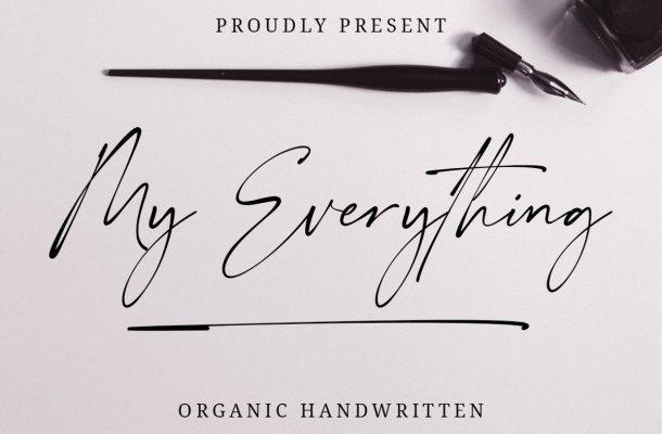 My Everything Organic Handwritten Font