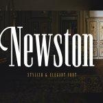 Newston Stylish Serif Font