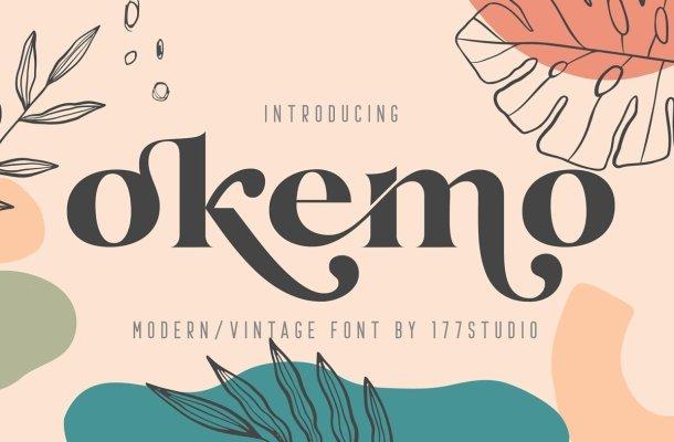 Okemo Modern Bold Serif Font