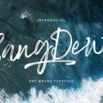 Sang Dewi Hand Brush Script Font