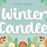 Winter Candle Bold Script Font