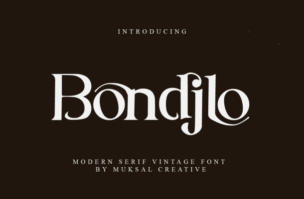 Bondjlo-Font