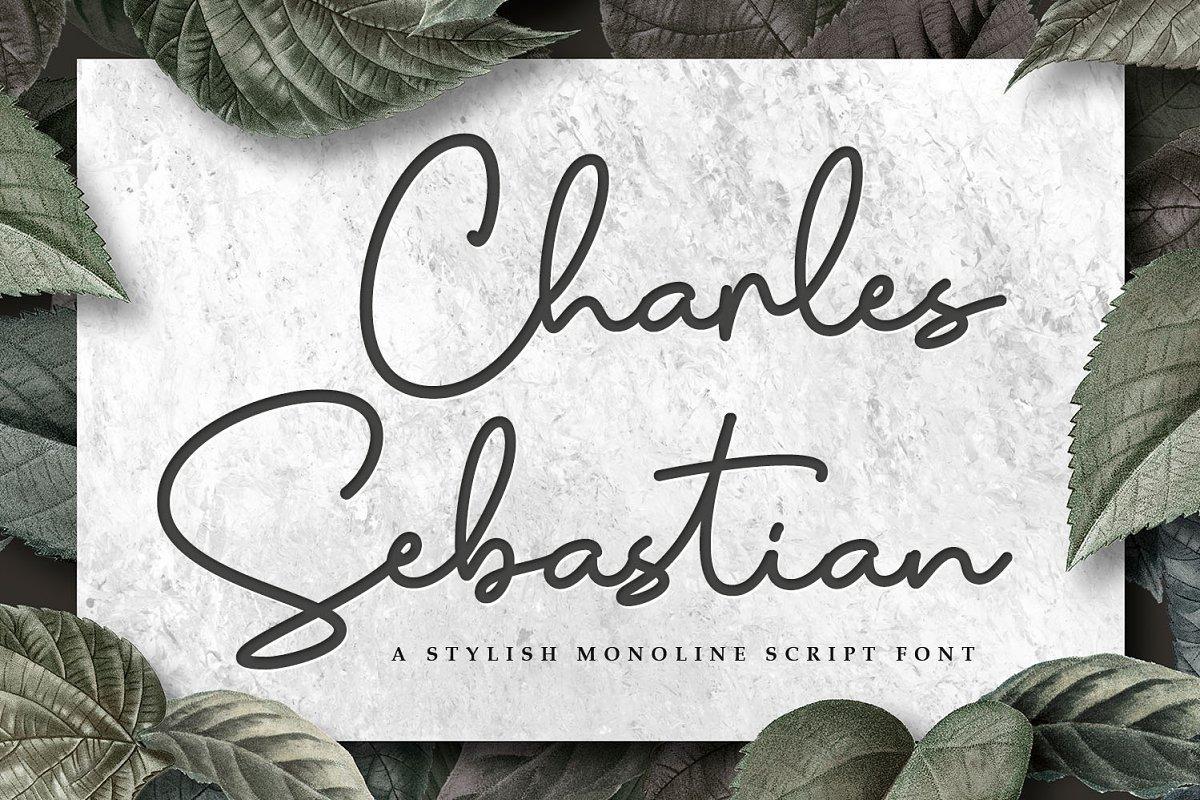 Charles-Sebastian-Monoline-Script-Font