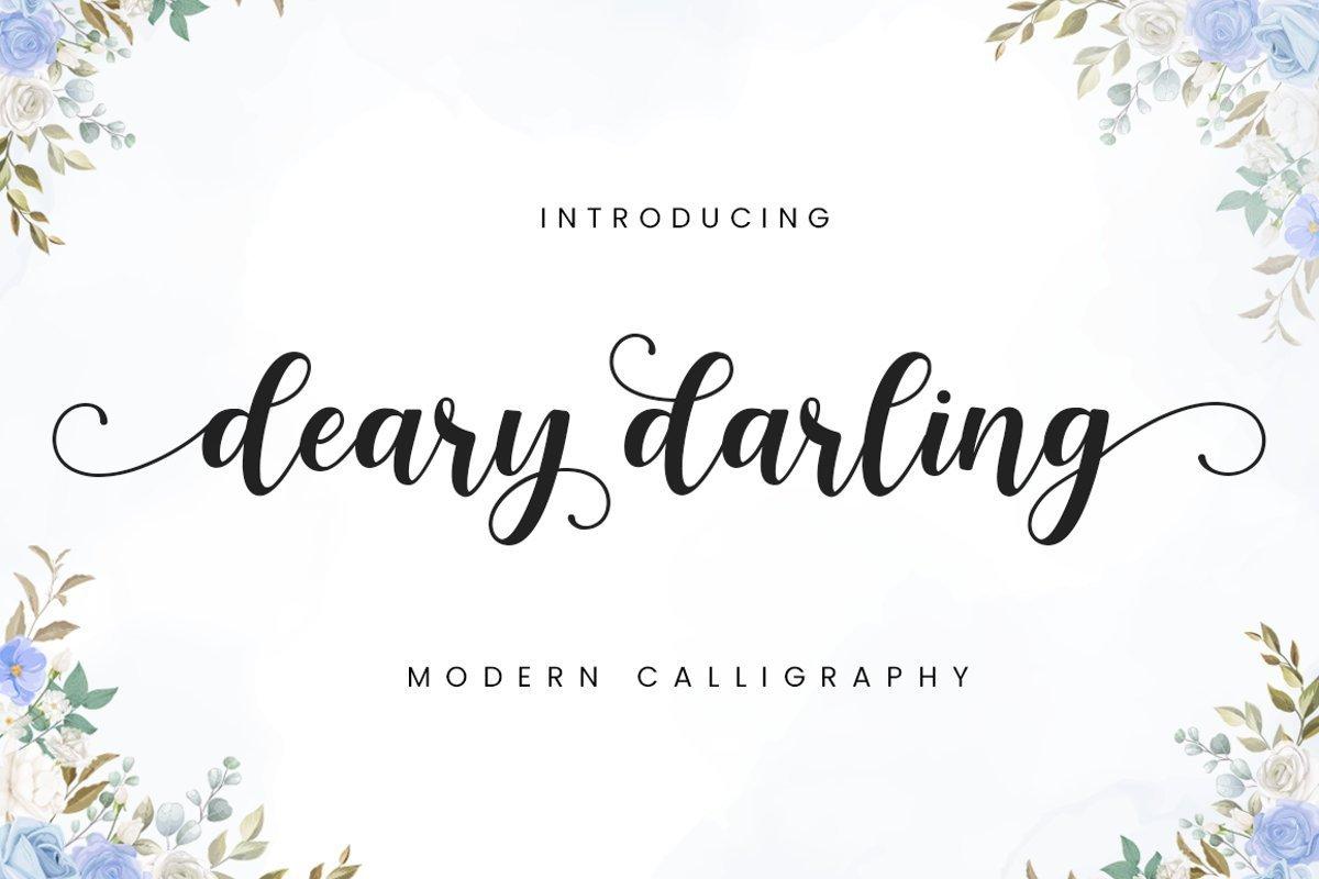 Deary-Darling-Font-1