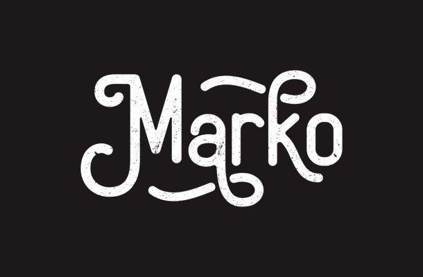 Marko Vintage Display Typeface