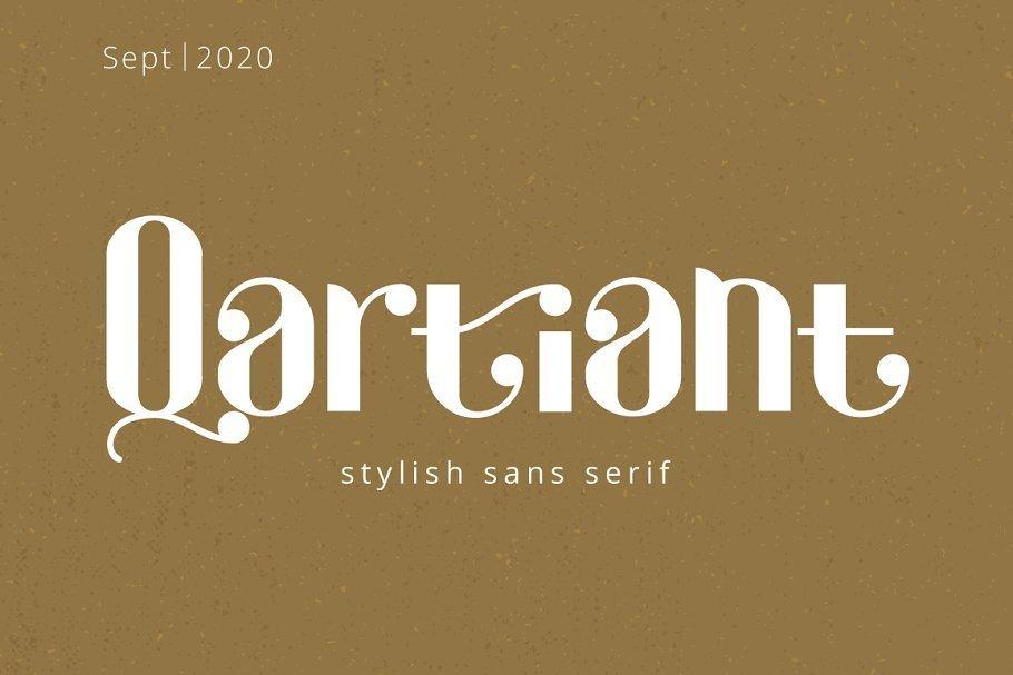 Qartiant-Stylish-Sans-Serif-Font