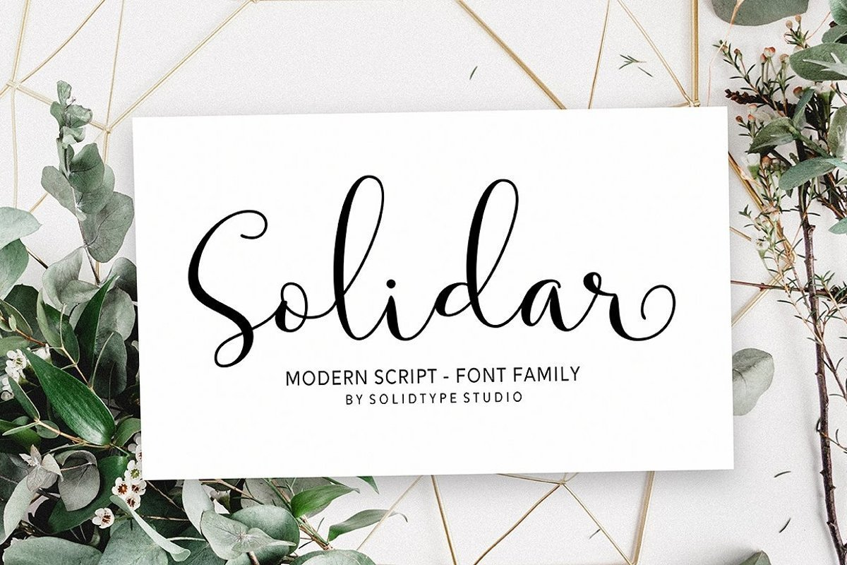 Solidar-Modern-Calligraphy-Script-Font