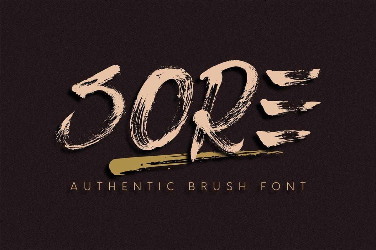 Sore-Authentic-Brush-Script-Font