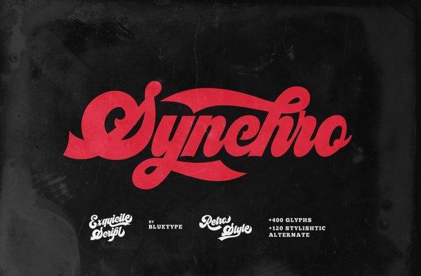 Synchro-Retro-Bold-Script-Font