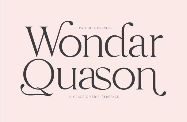 Wondar Quason Typeface