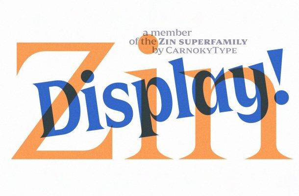 Zin Display Typeface